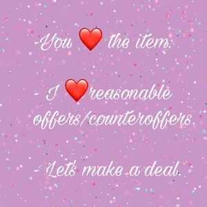 I ❤️ OFFERS!! Don't be shy, send me an offer!!